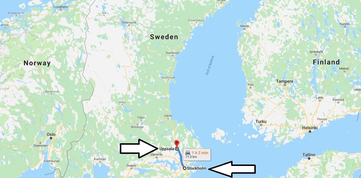 Where is Uppsala - What Country is Uppsala in -Uppsala Map