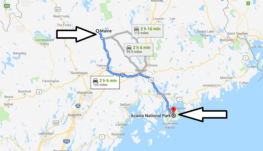 Where is Acadia National Park? What city is Acadia? How do I get to Acadia