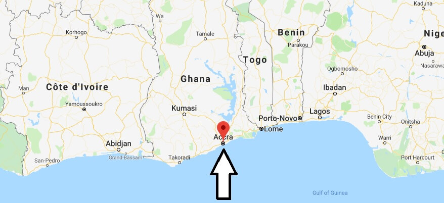 Where is Accra? What Country is Accra in? Accra Map Located
