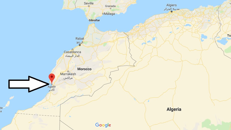 Where is Agadir? What Country is Agadir in? Agadir Map Located