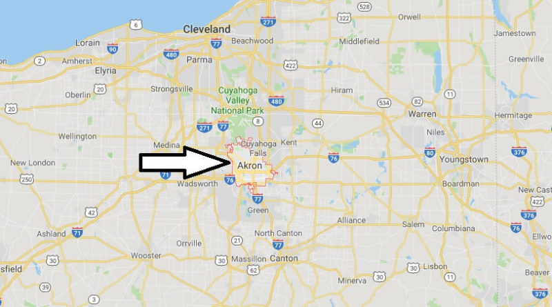 Where is Akron, Ohio? What State is Akron? Akron Map Located