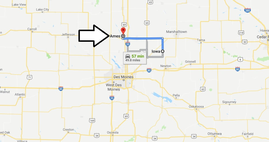 Where is Ames, Iowa? What County is Ames? Ames Map Located