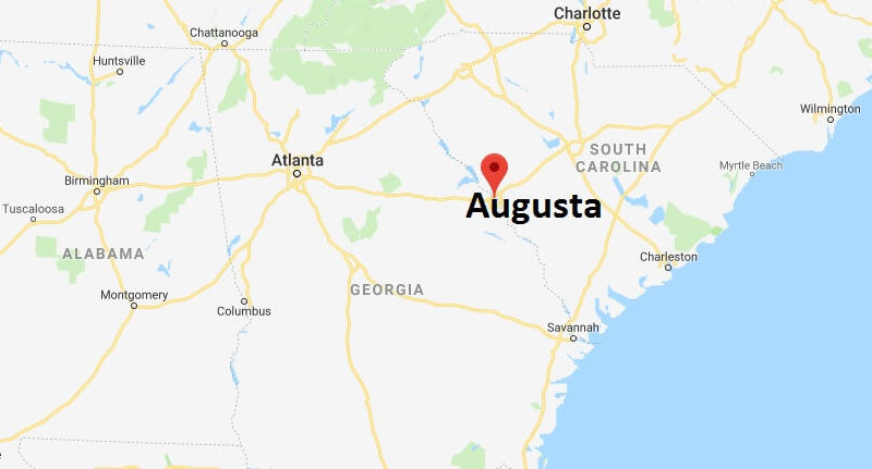 Map Of Georgia Augusta.Where Is Augusta Georgia What County Is Augusta Augusta Map