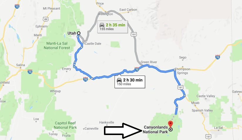 Where is Canyonlands National Park? What city is Canyonlands? How do I get to Canyonlands