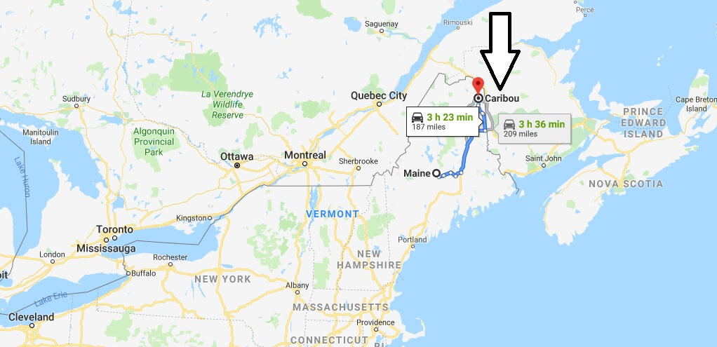 Where is Caribou, Maine? What County is Caribou? Caribou Map Located