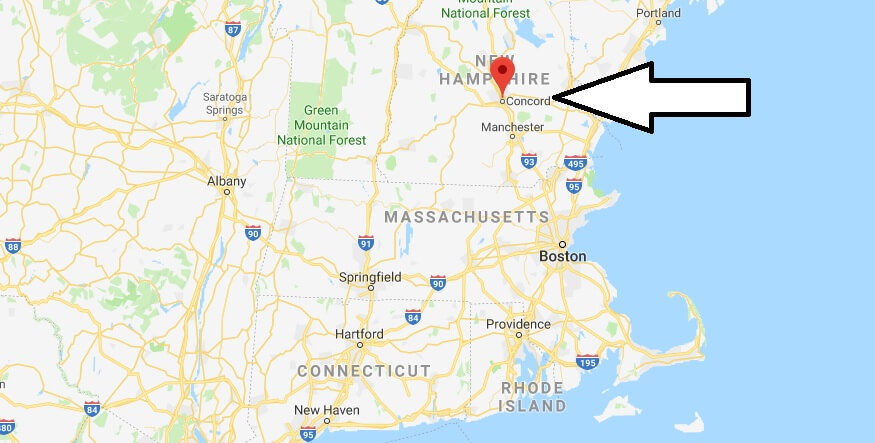 Where is Concord, New Hampshire? What County is Concord? Concord Map Located