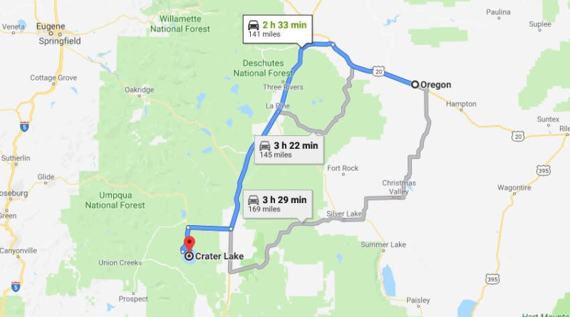 Where is Crater Lake National Park? What city is Crater Lake? How do I get to Crater Lake