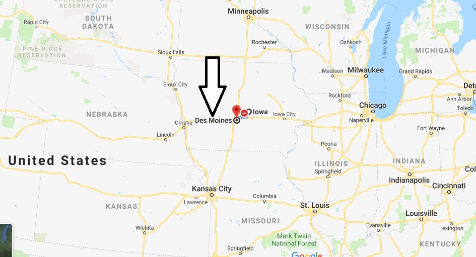 Where is Des Moines, Iowa? What County is Des Moines? Des Moines Map Located