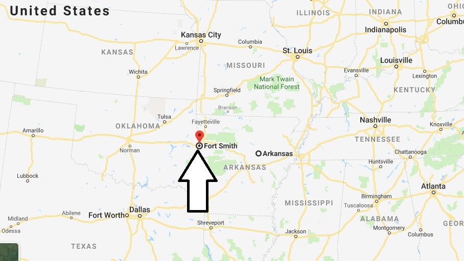 Where is Fort Smith, Arkansas? What County is Fort Smith? Fort Smith Map Located