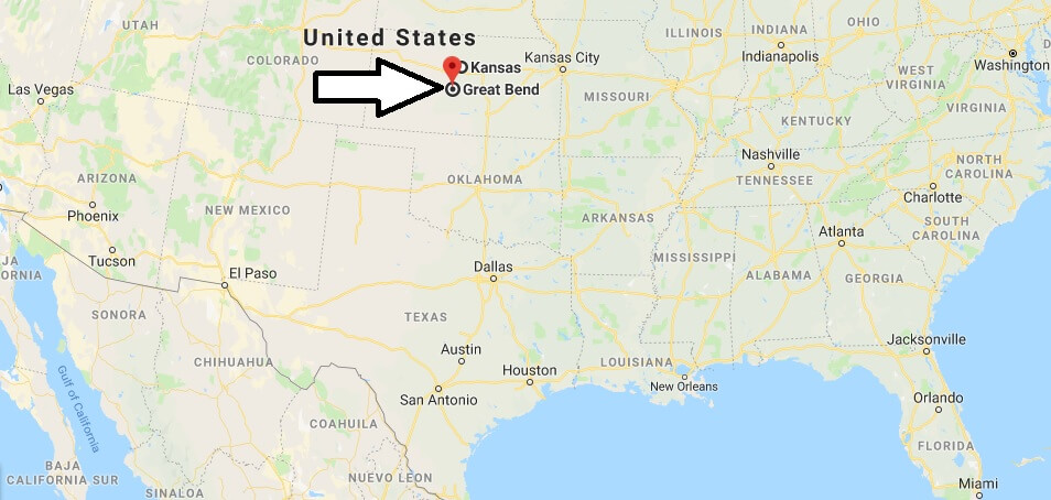 Where is Great Bend, Kansas? What County is Great Bend? Great Bend Map Located