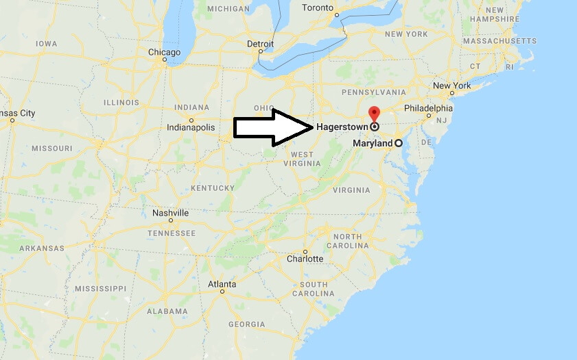 Where is Hagerstown, Maryland? What County is Hagerstown? Hagerstown Map Located