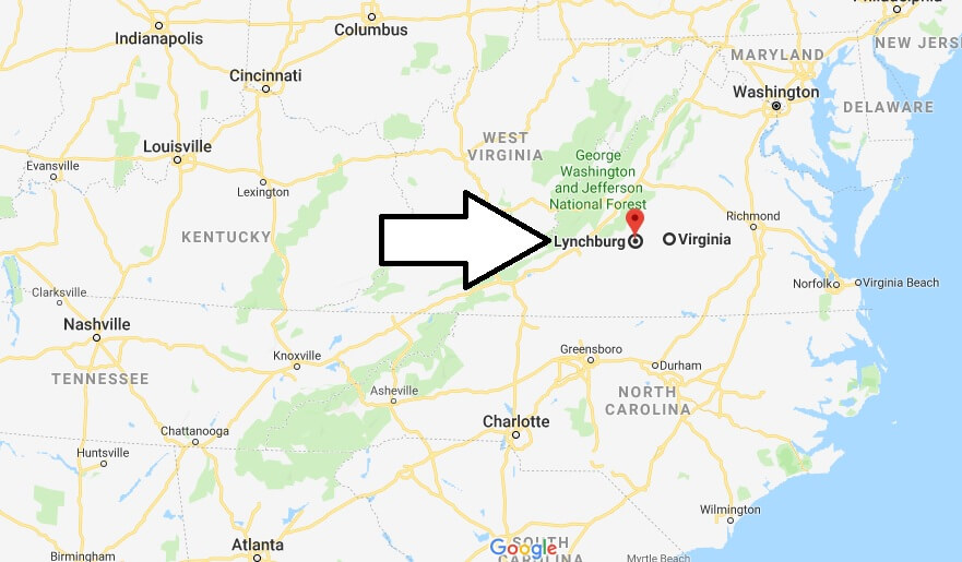 Where is Lynchburg, Virginia? What County is Lynchburg? Lynchburg Map Located