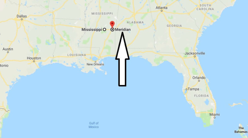 Where is Meridian, Mississippi? What County is Meridian? Meridian Map Located