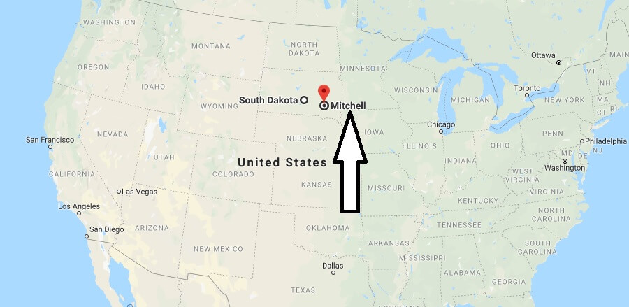 Where is Mitchell, South Dakota? What County is Mitchell? Mitchell Map Located