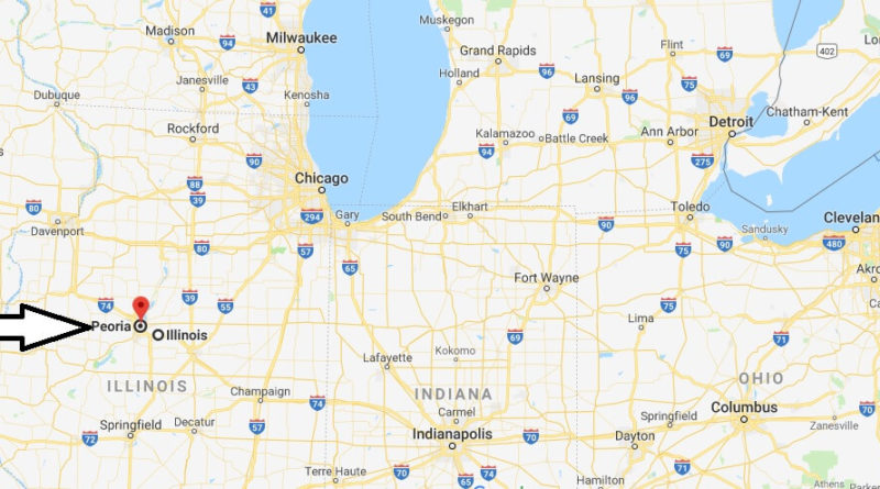 Where is Peoria, Illinois? What County is Peoria? Peoria Map Located