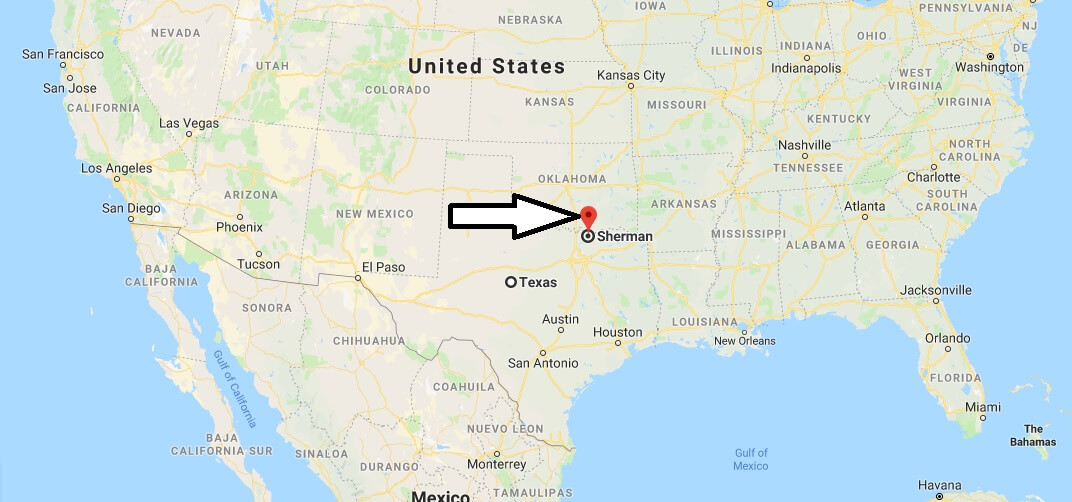Where is Sherman, Texas? What County is Sherman? Sherman Map Located