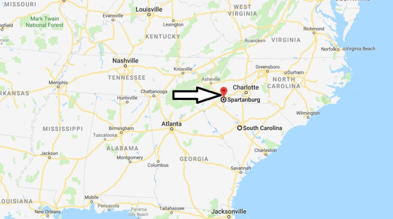Where is Spartanburg, South Carolina? What County is Spartanburg? Spartanburg Map Located