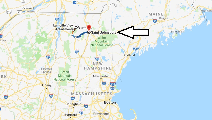 Where is St. Johnsbury, Vermont? What County is St. George? St. Johnsbury Map Located