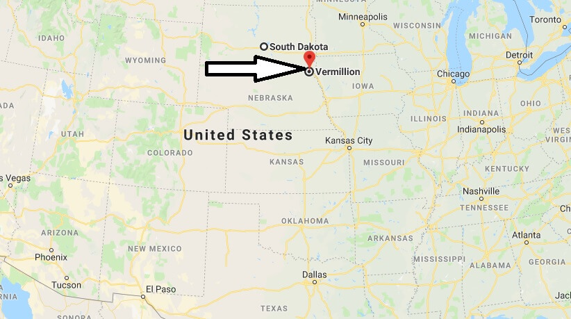 Where is Vermillion, South Dakota? What County is Vermillion? Vermillion Map Located