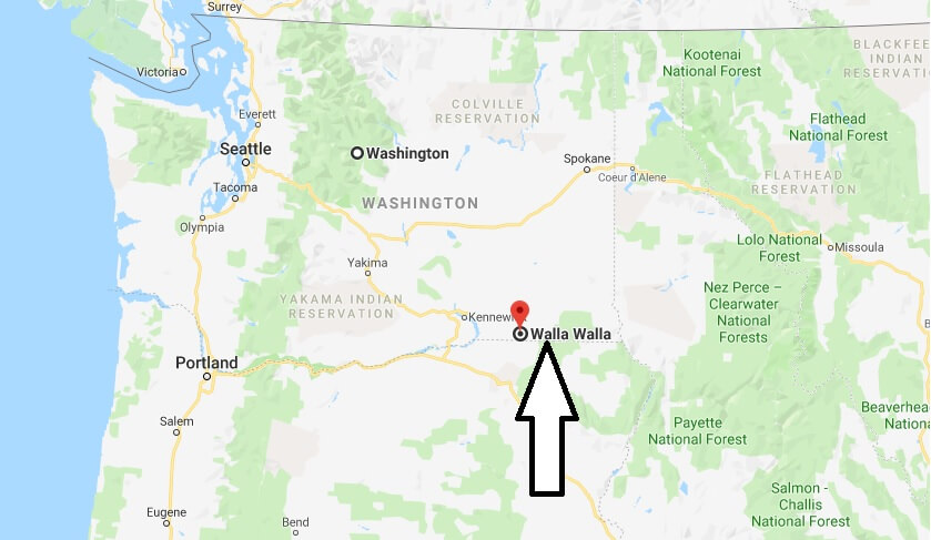 Where is Walla Walla, Washington? What County is Walla Walla? Walla Walla Map Located