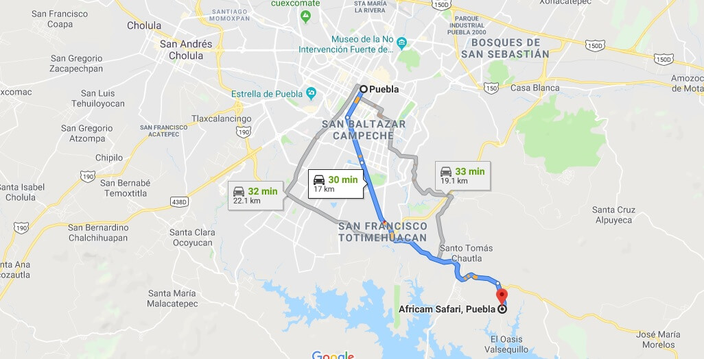 Where is Africam Safari, Puebla Located Prices,Tickets, Hours, Map
