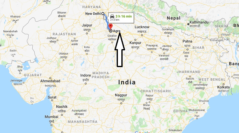 Where is Agra Located? What Country is Agra in? Agra Map