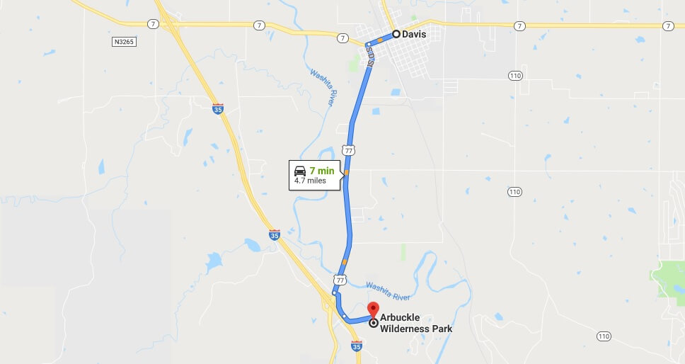 Where is Arbuckle Wilderness Park Located Prices,Tickets, Hours, Map