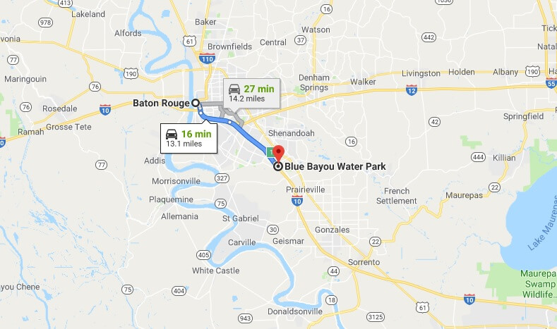 Where is Blue Bayou Water Park Located Prices,Tickets, Hours, Map