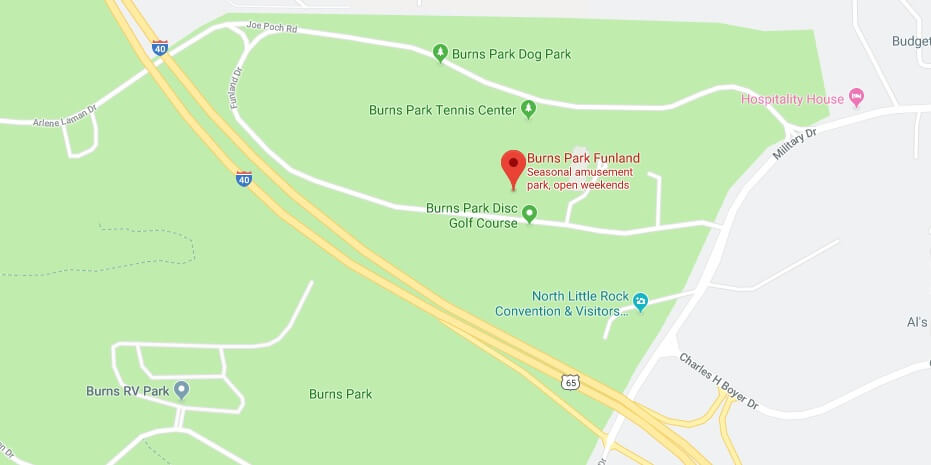 Where is Burns Park Funland Located Prices,Tickets, Hours, Map