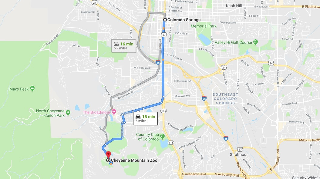 Where is Cheyenne Mountain Zoo Located Prices,Tickets, Hours, Map