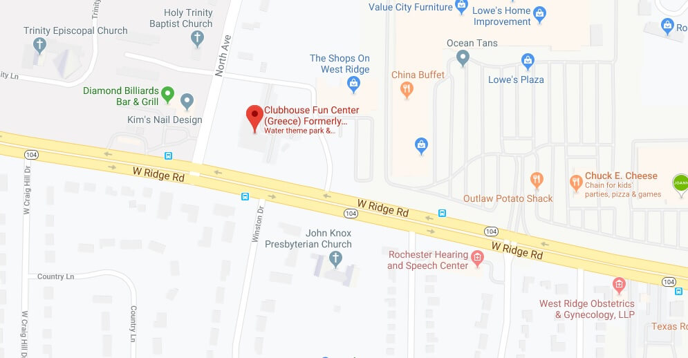 Where is Clubhouse Fun Center Located Prices,Tickets, Hours, Map