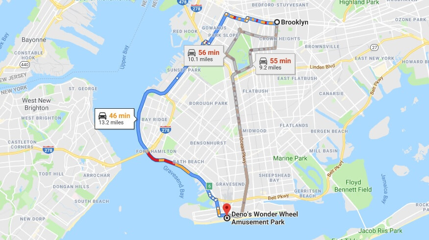 Where is Deno's Wonder Wheel Amusement Park Located Prices,Tickets, Hours, Map