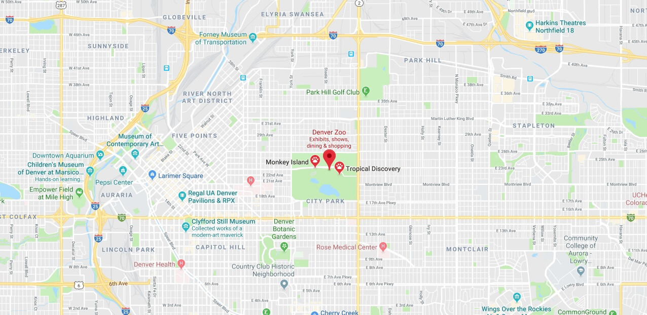 Where is Denver Zoo Located Prices,Tickets, Hours, Map