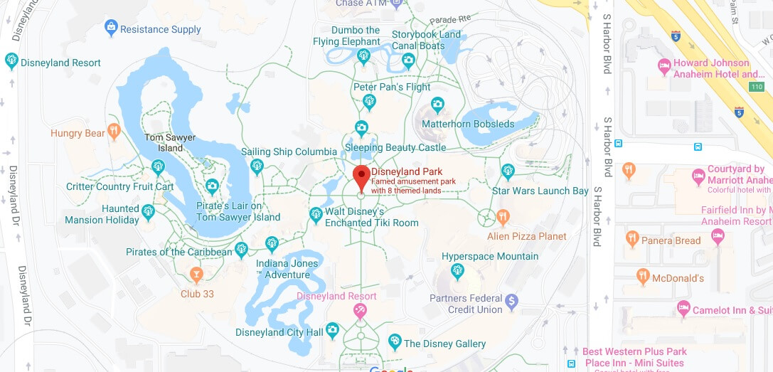 Where is Disneyland Park Anaheim Located Prices,Tickets, Hours, Map