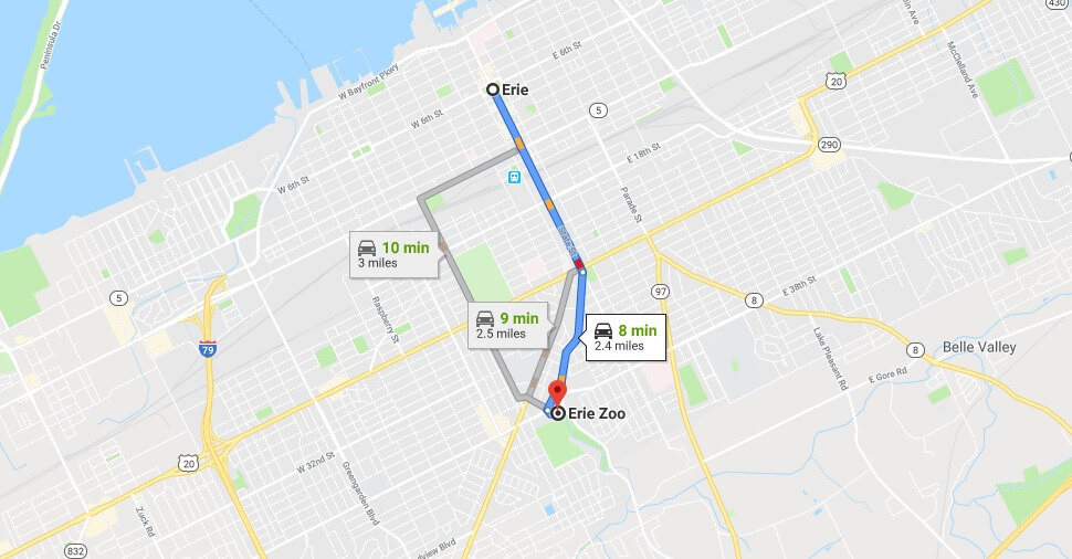 Where is Erie Zoo Located Prices,Tickets, Hours, Map
