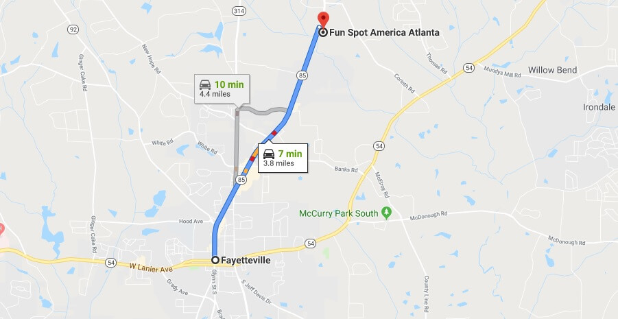 Where is Fun Spot America Atlanta Located Prices,Tickets, Hours, Map