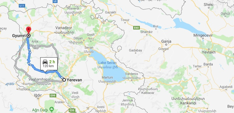 Where is Gyumri Located? What Country is Gyumri in? Gyumri Map