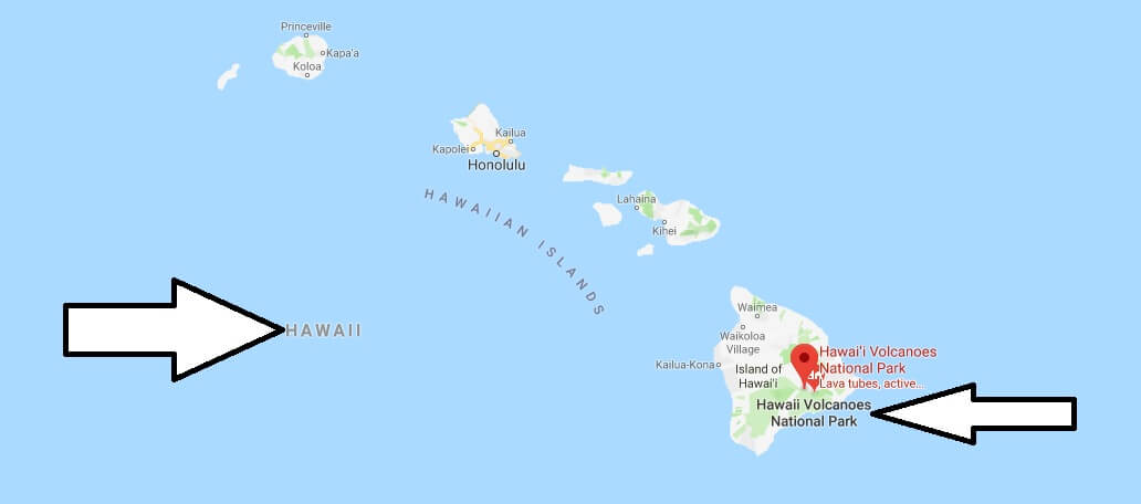 Where is Hawaii Volcanoes National Park? What city is Hawaii Volcanoes? How do I get to Hawaii Volcanoes