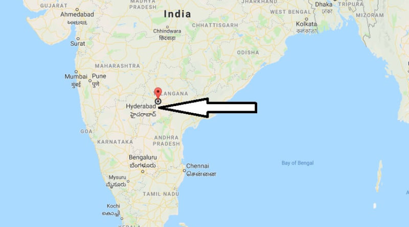 Where is Hyderabad Located? What Country is Ahmedabad in? Hyderabad Map