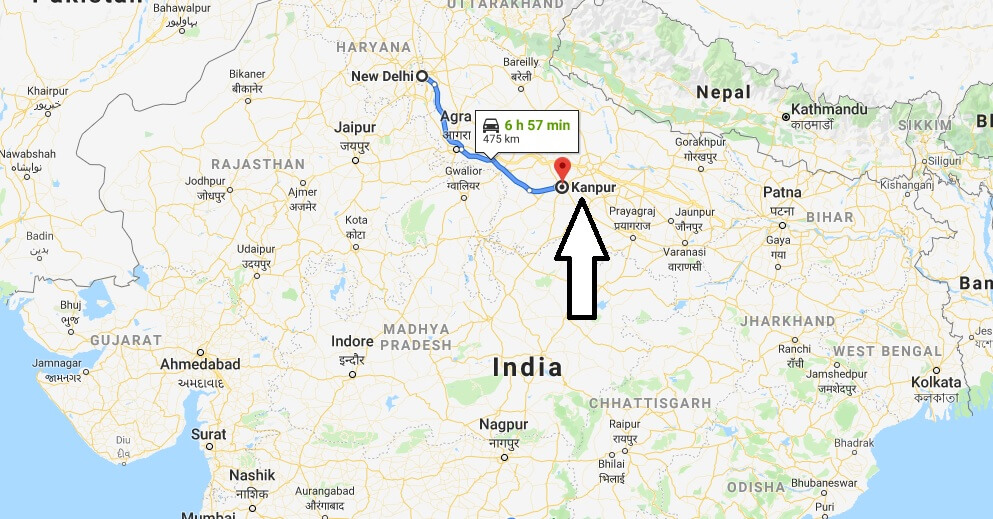 Where is Kanpur Located? What Country is Kanpur in? Kanpur Map