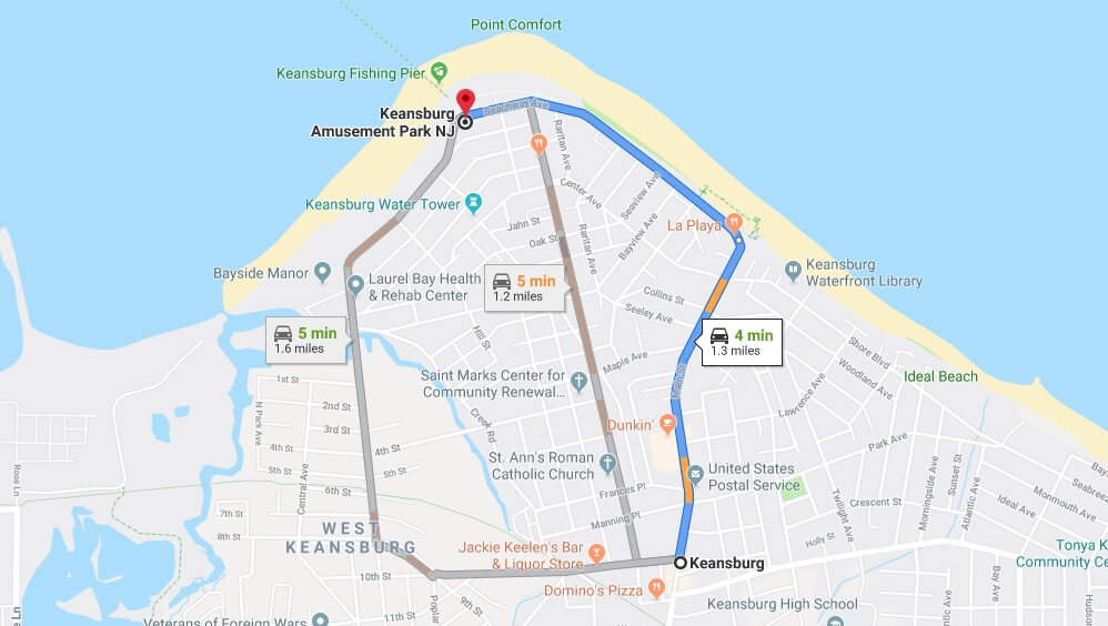 Where is Keansburg Amusement Park NJ Located Prices,Tickets, Hours, Map
