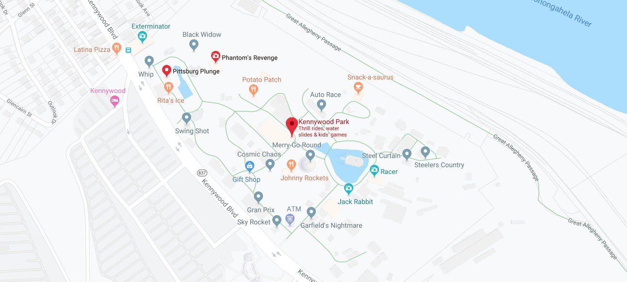 Where is Kennywood Park Located Prices,Tickets, Hours, Map