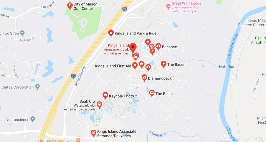 Where is Kings Island Located Prices,Tickets, Hours, Map