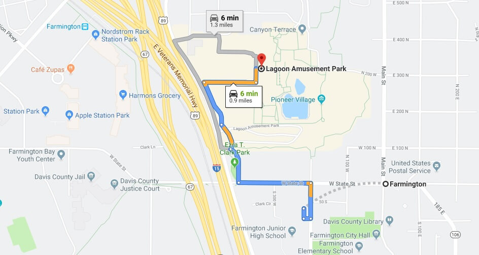 Where is Lagoon Amusement Park Located Prices,Tickets, Hours, Map