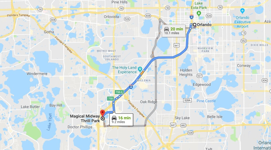 Where is Magical Midway Thrill Park Located Prices,Tickets, Hours, Map