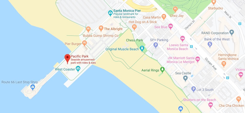 Where is Pacific Park Located Prices,Tickets, Hours, Map