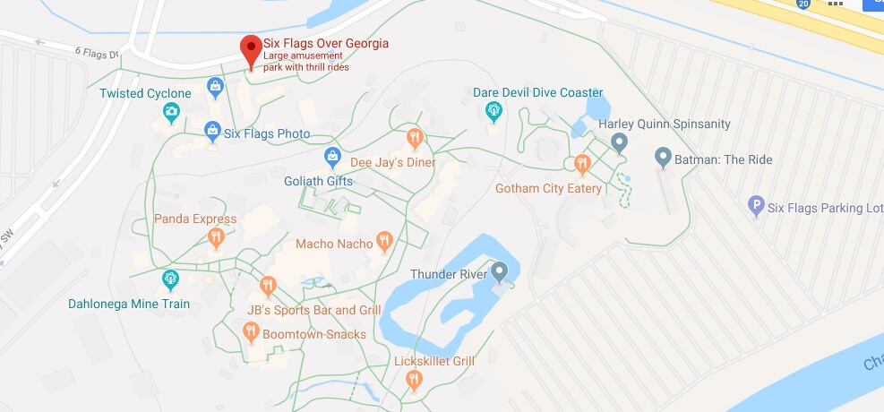 Where is Six Flags over Georgia Located Prices,Tickets, Hours, Map
