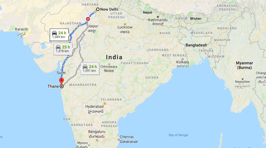 Where is Thane Located? What Country is Thane in? Thane Map