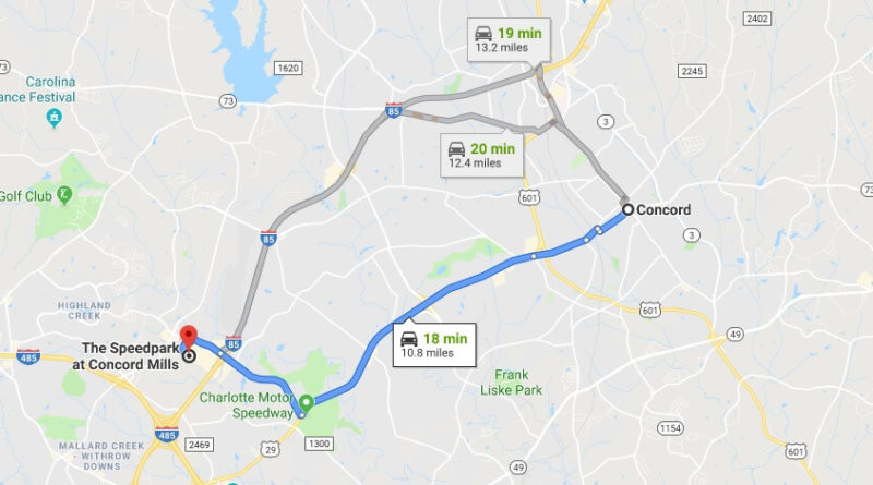 Where is The Speedpark at Concord Mills Located Prices,Tickets, Hours, Map