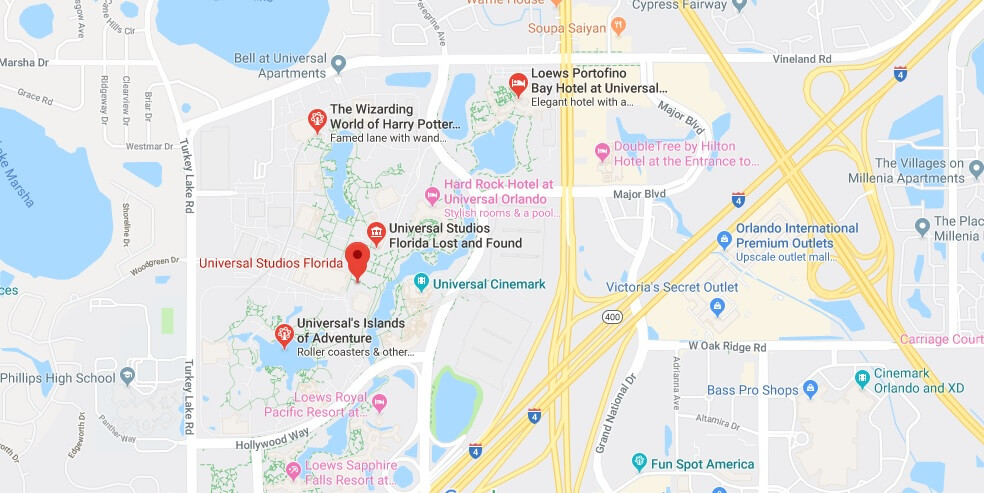 Where is Universal Studios Florida Located Prices, Hours, Map